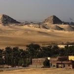 Obecný pohled na pyramidové pole Abúsír (© Archiv Českého egyptologického ústavu FF UK, M. Frouz)