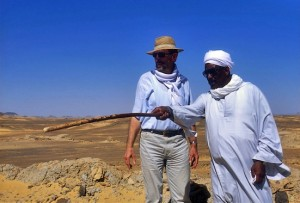 Reis Ahmad el-Kereti with Prof. Miroslav Verner (photo Martin Frouz)