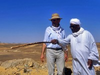 Reis Ahmad el-Kerétí s prof. Miroslavem Vernerem (foto Martin Frouz)