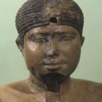 Tvář sochy panovníka Neferrea.