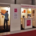 Prezentace vystavených kalendářů na výstavišti v Letňanech (pohled na expozici, ©foto.: Martina Frouz V. a Martin Frouz).