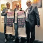 Přítomní sponzoři s oceněním - (zleva) Josef Jíša, Jiří Melzer, Ing. Ludvík Hegrlík, ©foto.: Martina Frouz V. a Martin Frouz).