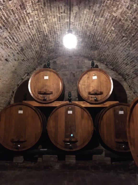 Vinné sklepy v klášteře Monte Oliveto