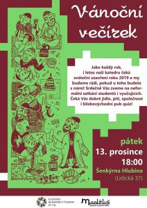 Vánoční večírek KBV 2019 @ Šenkýrna Hlubina