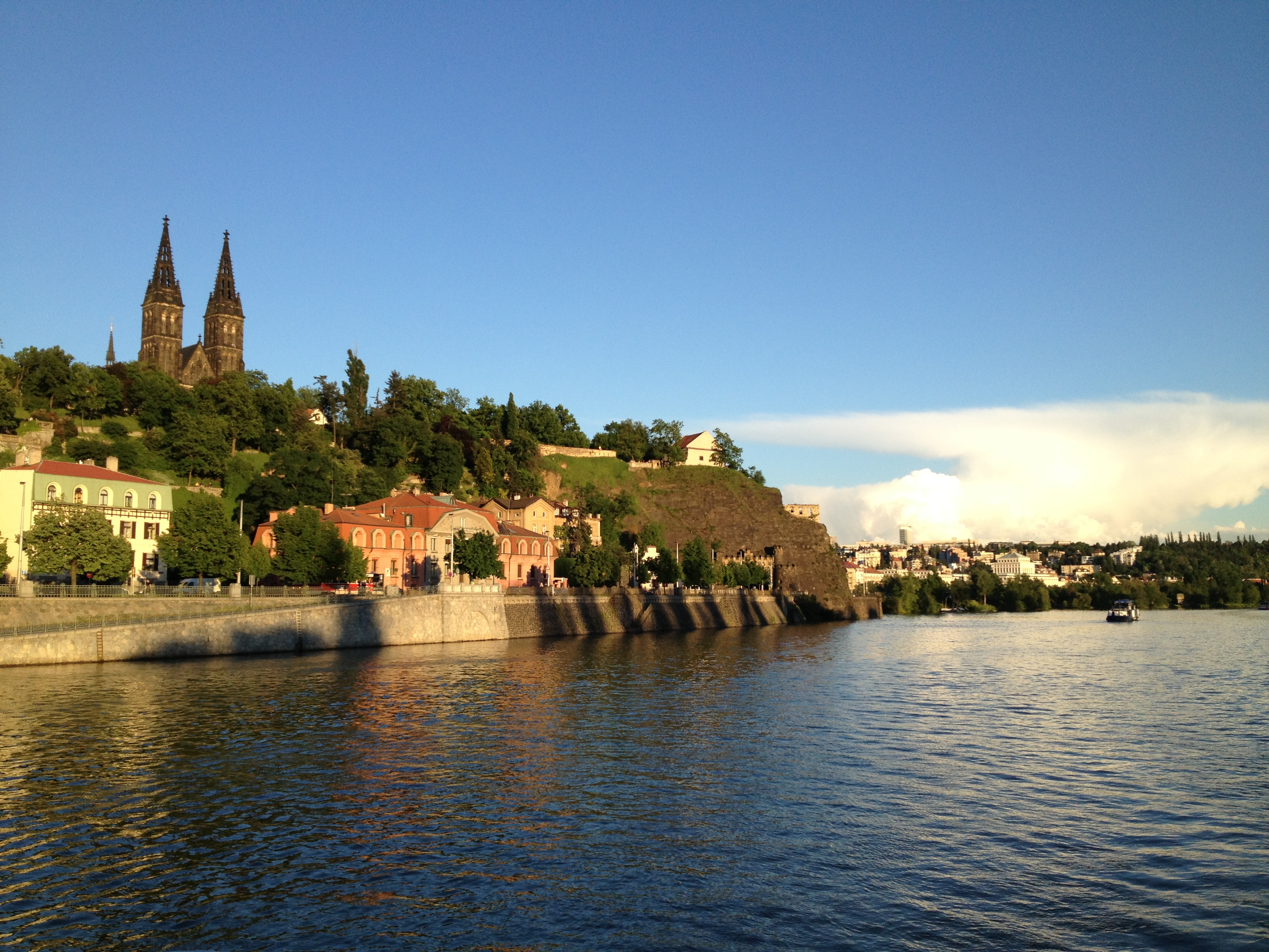 vysehrad from the boat