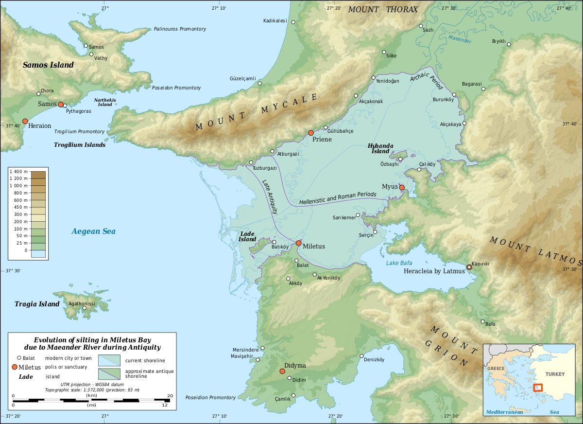 Fig. 1_Mapa antickej Iónie, Turecko