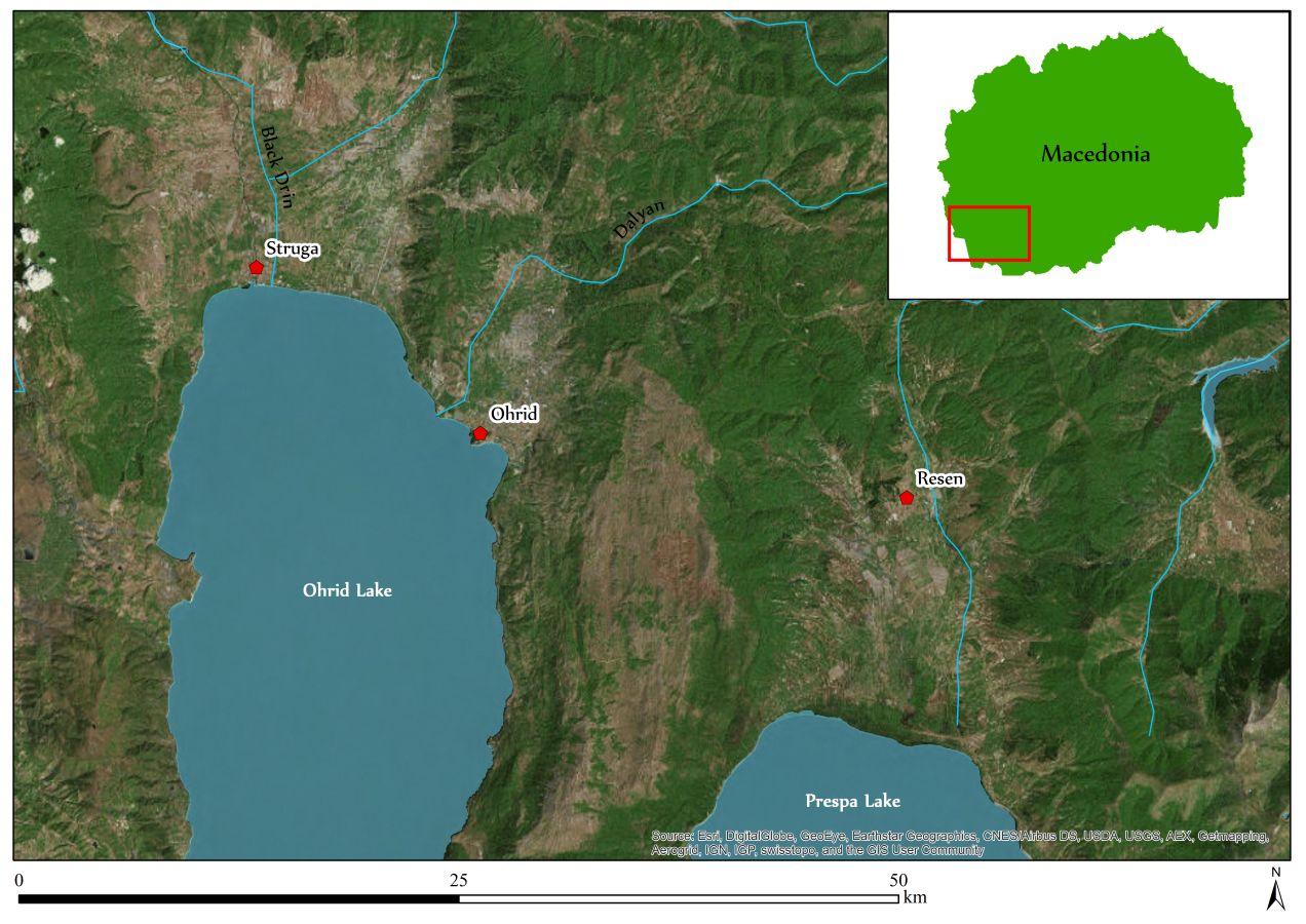 Fig. 2_Ohrid – skúmaná oblasť