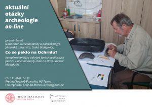 """J. Beneš """"Co se peklo na Ochridu? Komplexní analýza odkrývá funkci neolitických pekáčů z nákolní osady Ustie na Drim, Severní Makedonie"""""""
