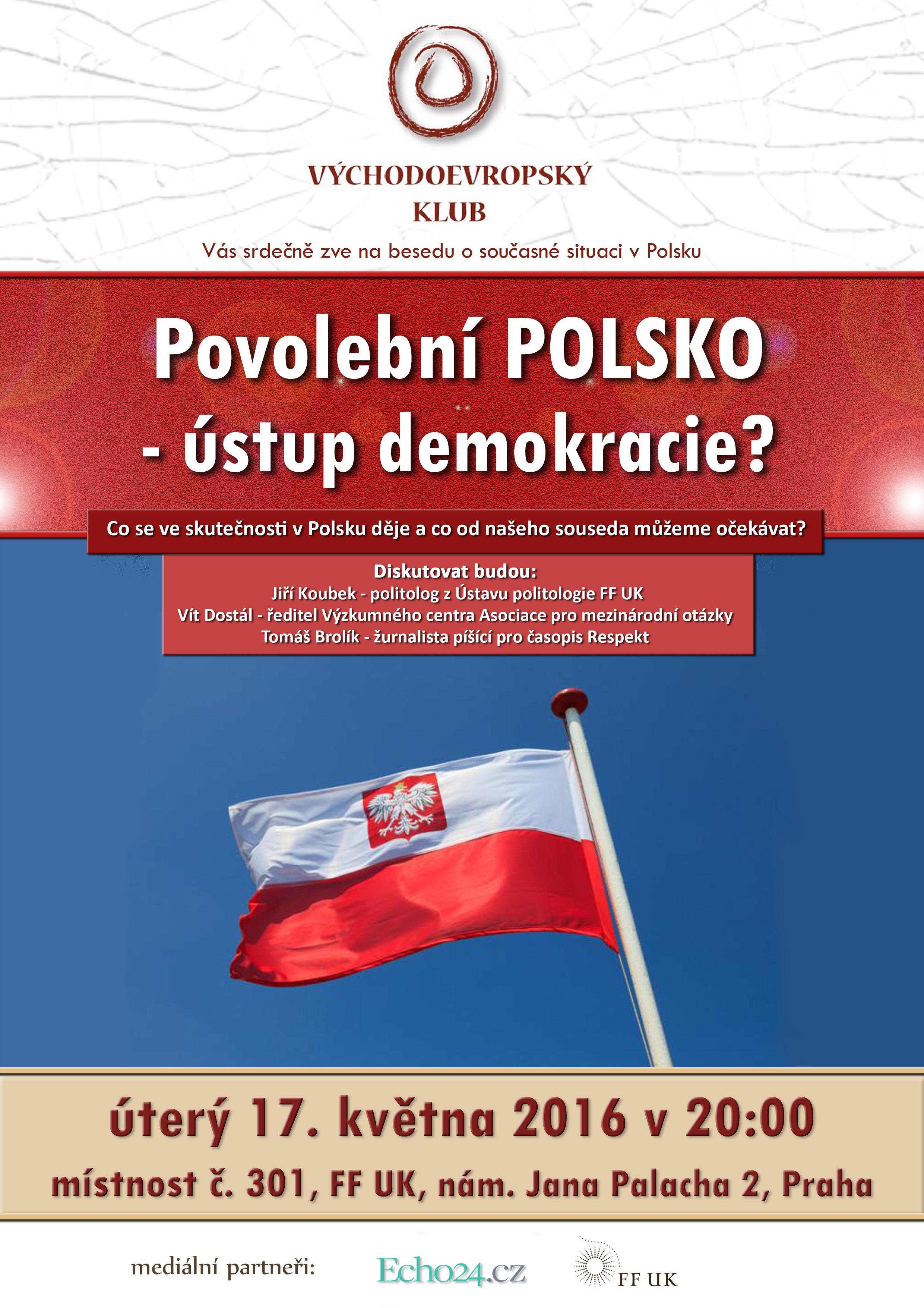Plakát Polsko – ústup demokracie copy